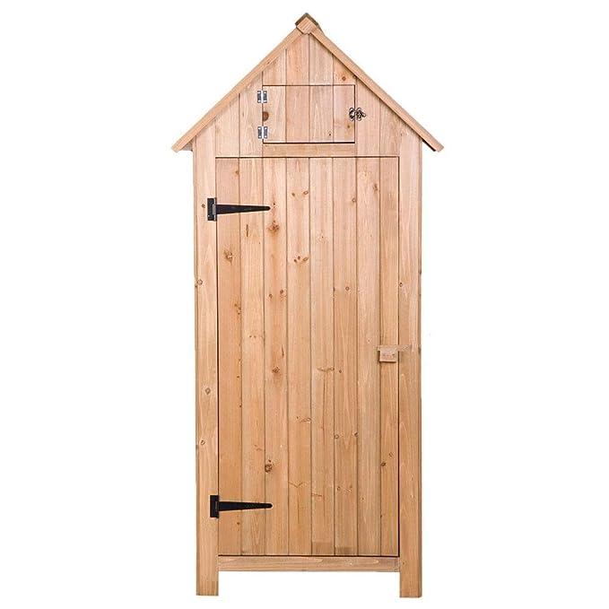 Bonebit - Cobertizo de Flecha de Madera para jardín con una Sola Puerta, 70 Pulgadas, Resistente con Madera de Abeto: Amazon.es: Jardín