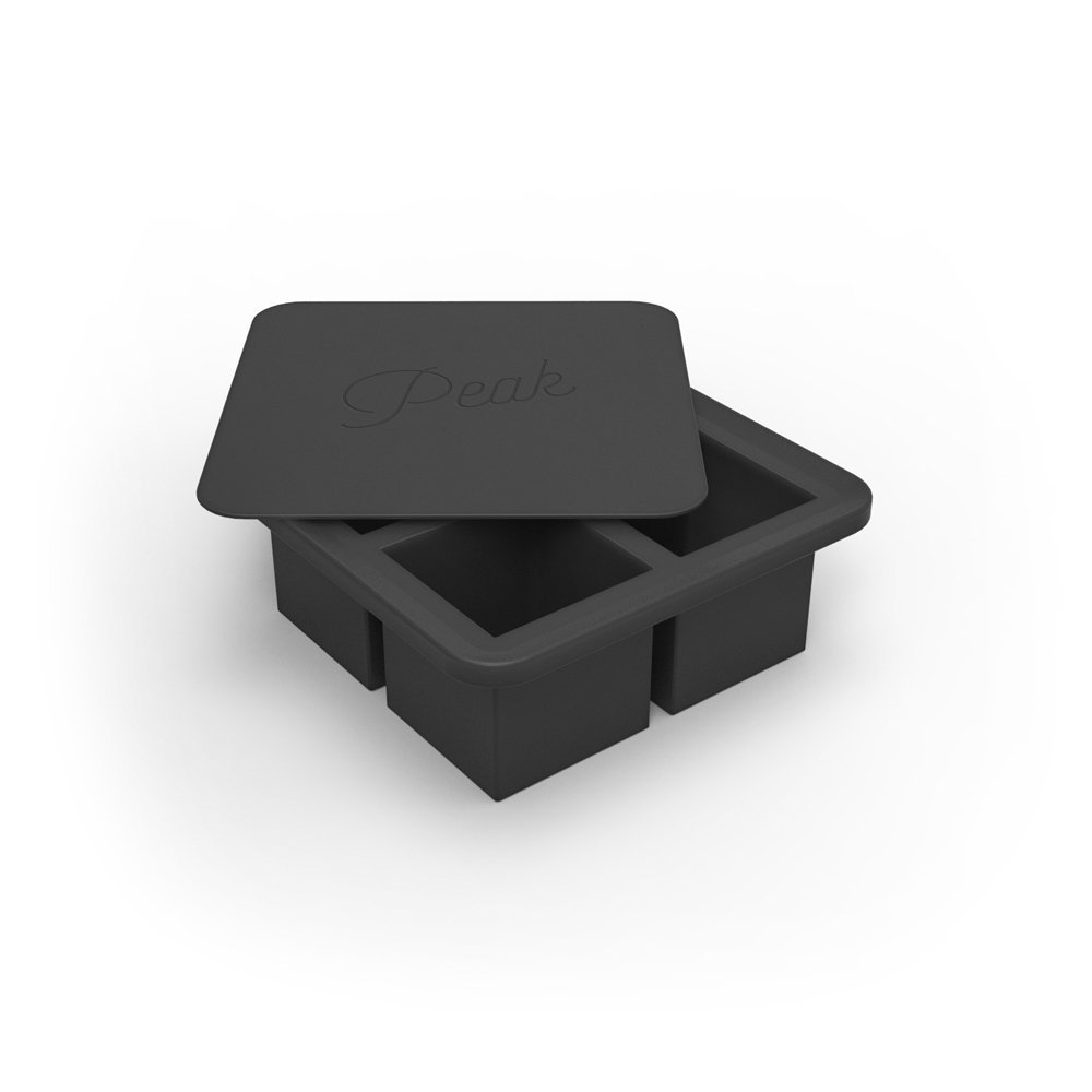 Peak Ice Works Large Cube Tray, Charcoal