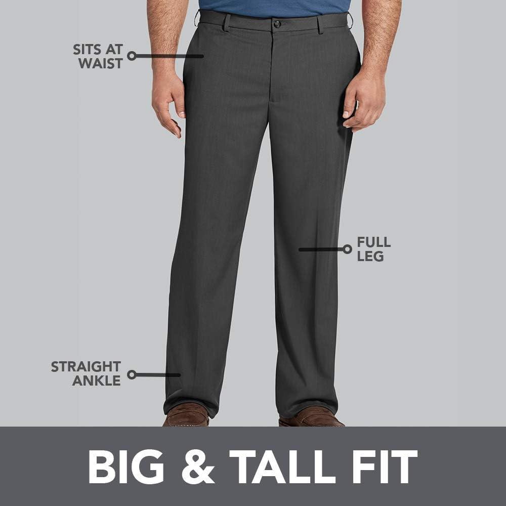 Van Heusen Mens Big /& Tall Cuffed Crosshatch Pant