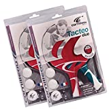 Cornilleau Tacteo Duo 4 Player Table Tennis Racket & Ball Set
