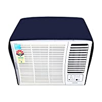 Glassiano Navyblue Colored Waterproof And Dustproof Window Ac Cover For O General AXGT18FHTA - 1.5 Ton AC