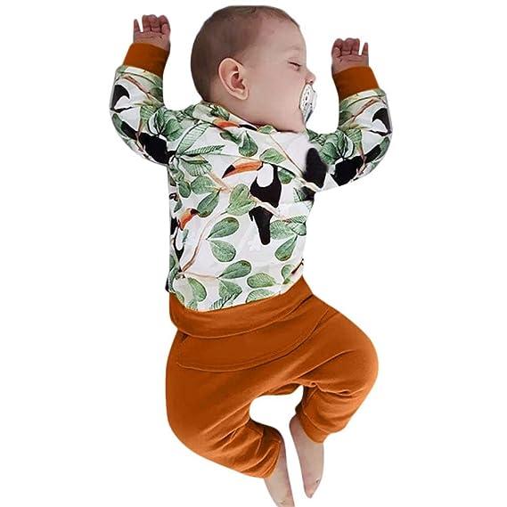 K-youth Ropa Bebe Niño Invierno Otoño Conjunto Recién Nacido Niña Bebé Camiseta con Capucha Manga Larga Tops y Pantalones 0-24 Meses Traje de Bautizo ...