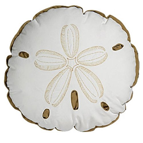 Sand-Dollar-Indoor-Outdoor-Pillow-with-Sunbrella-Fabric-Cover-17-Inches-in-Diameter