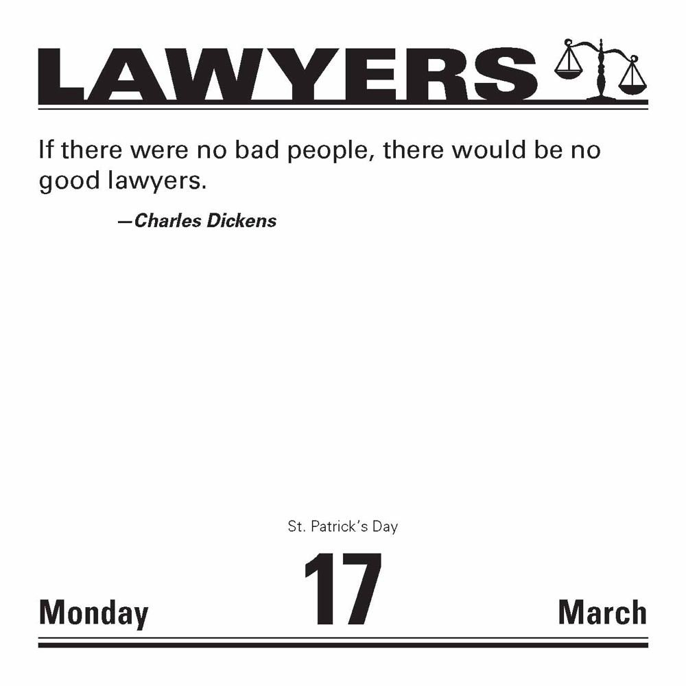 Lawyers 2014 Daytoday Calendar: Jokes, Quotes, And Anecdotes: Llc Andrews  Mcmeel Publishing: 9781449430481: Amazon: Books