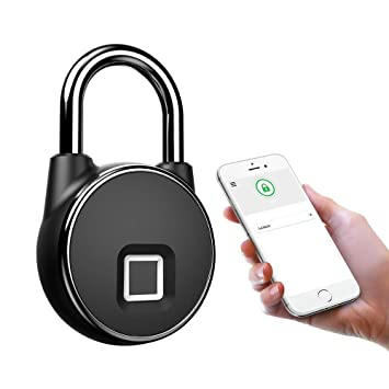 Bluetooth Fingerprint PadLock Biometric Waterproof Lock APP for Android iOS
