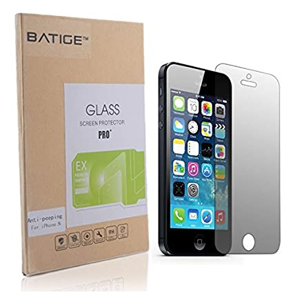 batige privacy anit spy tempered glass screen protector shield guard for iphone 5 5s 5c amazoncom tempered glass