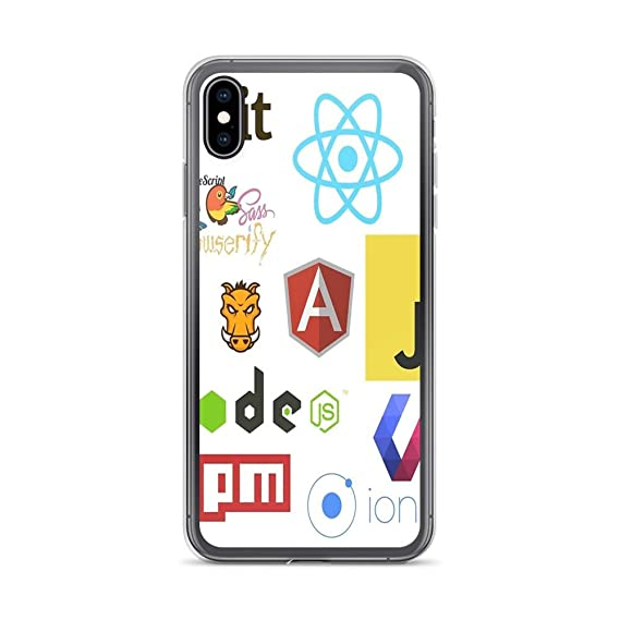 best loved 6d421 ef487 Amazon.com: iPhone 7/8 Pure Clear Case Cases Cover Javascript ...