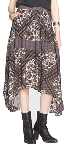 Free-People-Womens-Printed-Paradise-Midi-Skirt-Tea-Combo-Size-8