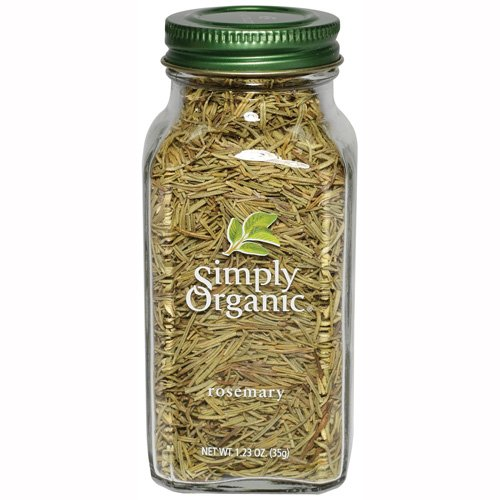 Simply Organic Rosemary Leaf Whole Certified Organic, 1.23-Ounce Containers  (Pack of 3)