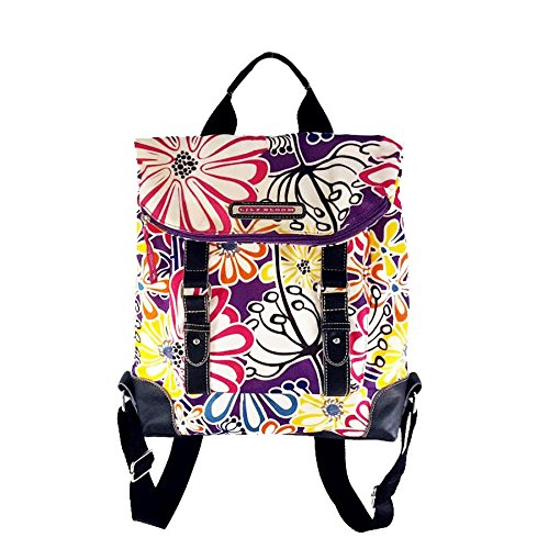 lily-bloom-karma-multi-colored-floral-canvas-leather-backpack-slingbag