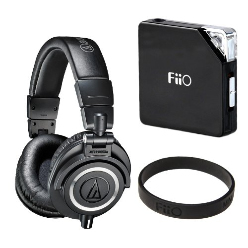 Audio-Technica ATH-M50x Professional Monitor Headphones (New 2014 Model) with FiiO E6 Headphone Amplifier (ATH-M50X, Black), Best Gadgets