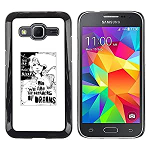 Paccase / SLIM PC / Aliminium Casa Carcasa Funda Case Cover para - Dreamer Deep Meaning Metaphor White - Samsung Galaxy Core Prime SM-G360