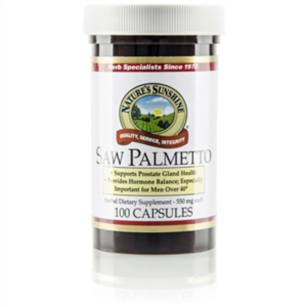 Naturessunshine Saw Palmetto Glandular System Support 550 mg 100 Capsules (Pack of 6)