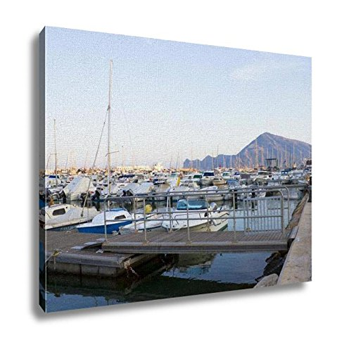Ashley Canvas, Boats Moored In Harbour Near Denia Spain, Home Decoration Office, Ready to Hang, 20x25, AG6314689 by Ashley Canvas