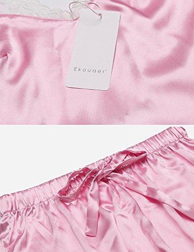 Ekouaer due Pink Donna pezzi Pigiama 77Yxr8