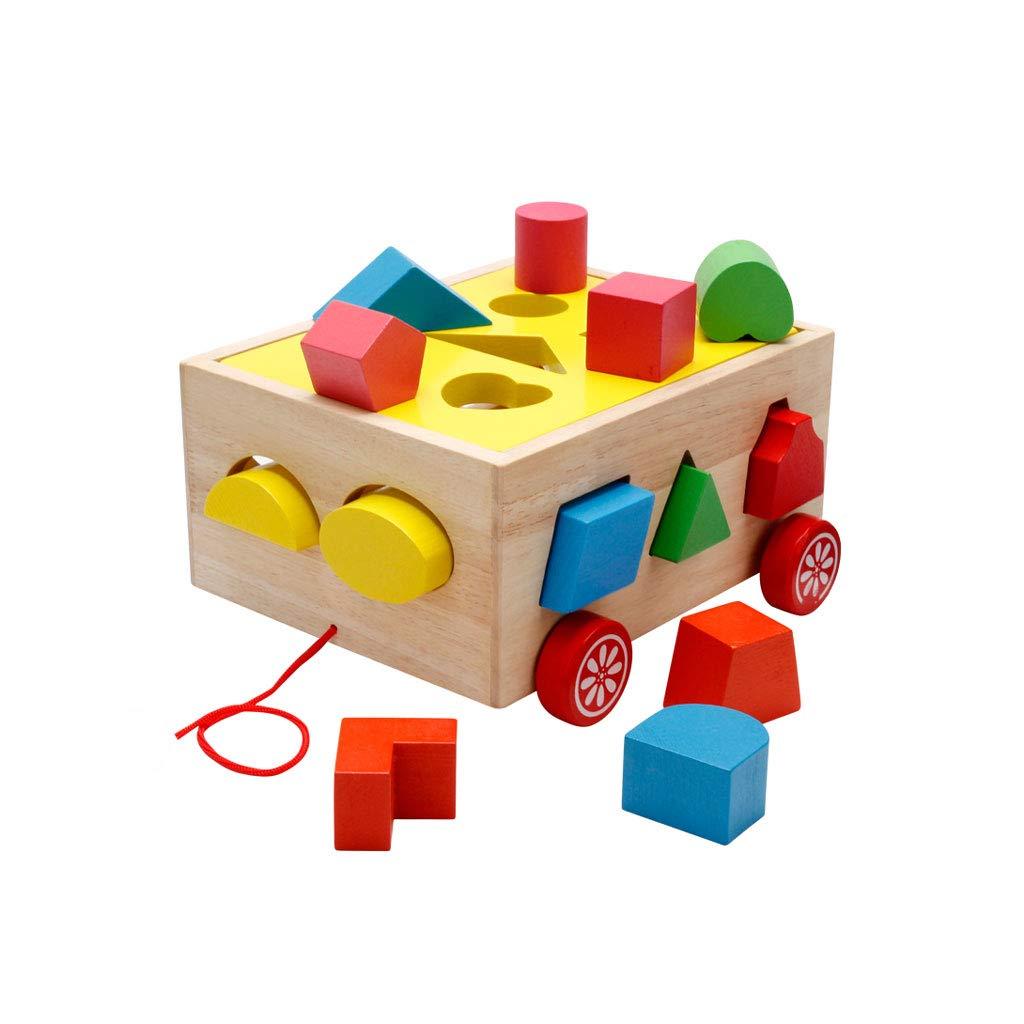HXGL-Toys 子供用玩具 木製ボックス型 認知ギフト 3歳以上 HXGL-007  Shape B07M6V6KRV