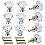Dxhycc 10 Pcs Crystal Glass Cabinet Knobs 30mm Diamond Shape Drawer Kitchen Cabinets Dresser Cupboard Wardrobe Pulls Handles