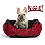 Marvel Corded Rectangular Bumper in Spiderman, Spidey Web (Dog Bed/Cat Bed) w/11 Toy Bone