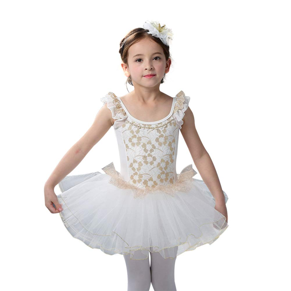 Tutu Dreams Ballet Leotards for Girls Skirted Short Sleeve Ballet Tutu Dress Princess Dance Dress