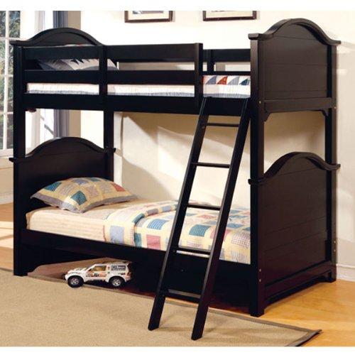 Chesapeake Black Dual Twin Size Bunk Bed