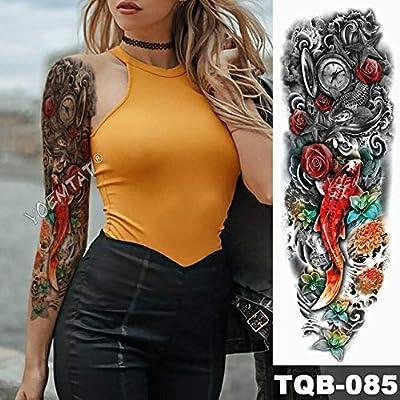3pcsBig Brazo Manga Tatuaje japonés Geisha Serpiente Tatuaje ...