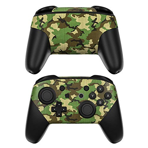 Woodland Camo Decalgirl Skin Sticker Wrap Compatible with Nintendo Switch Pro Controller