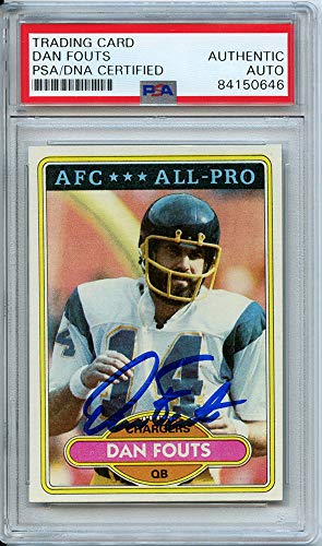 Dan Fouts Autographed Signed Trading Card (PSA Encapsulated)