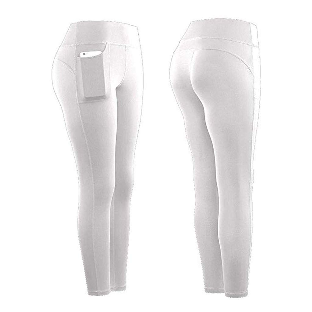 Lazapa Super Stretchy Yoga Trousers for Women Pocket High Waisted Casual Pants Ultra Soft Quick Drying Sweatpants Butt Lifting Leggings Yoga Leggings