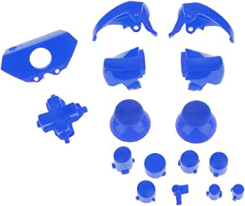 KESOTO Button L R Trigger Mod Sticks Replacement Kit For Xbox One Controller Blue