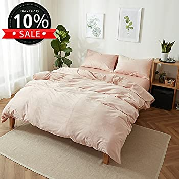 solid pink thickened velvet duvet cover set queen size with 2 pillow shams hotel quality
