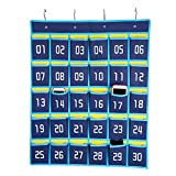 HBlife Numbered Classroom Pocket Chart Cell Phones Holder Wall Door Hanging Organizer (30 Pockets)