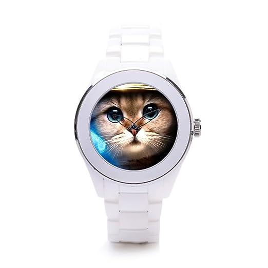 queenslandmen sthe reloj tienda gato astronauta para hombre relojes cerámica Cute Little gatitos