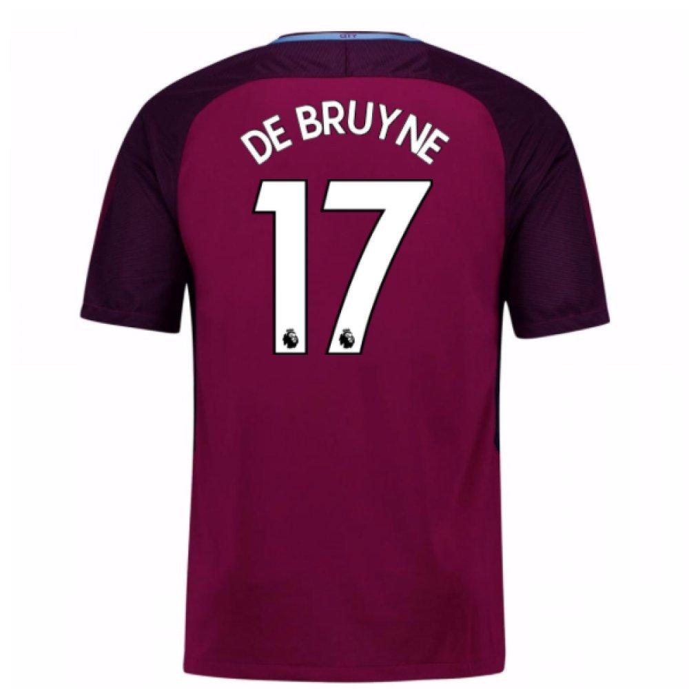 2017-18 Man City Away Football Soccer T-Shirt Trikot (Kevin De Bruyne 17) - Kids