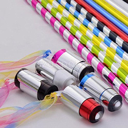 Appearing Cane Metal Silver Magic Tricks Close Up Illusion Silk to Wand ()