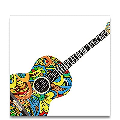 aoyuff Colorful Guitar Oil Painting Coloring Paint by Numbers Color Blocks Draw with Kits On Canvas for Kids Gifts Room Wall Decor: Home & Kitchen