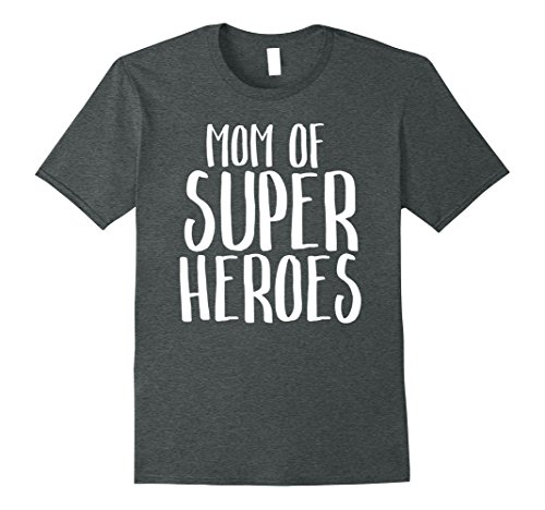 Plus Size Superhero T Shirts (Mens Mom of Super Heroes Mother Vintage Funny Movie T-Shirt 2XL Dark Heather)