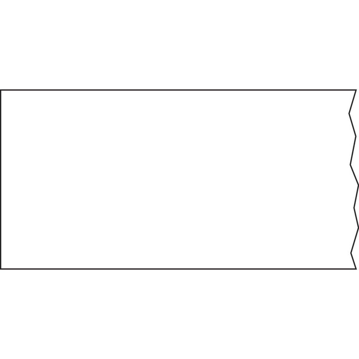 TIMETAPE T-502-1 Tape, Removable, 1'' Core, 2'' x 500'', Imprints White (Pack of 1)
