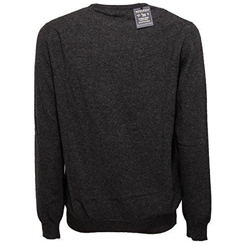 Grey Uomo Men Woolrich Melange Grigio Maglione Wool Scuro Sweater 6060w 7Att4qx