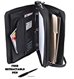 Padfolio 3-Ring Binders, Folder File Divider Organizer Planner w/Smart Handle, Briefcase Luggage Portfolio