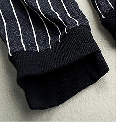 Qinni-shop Boys Girls Black Pinstripe Slim Fit Jogger Pants Sweatpants