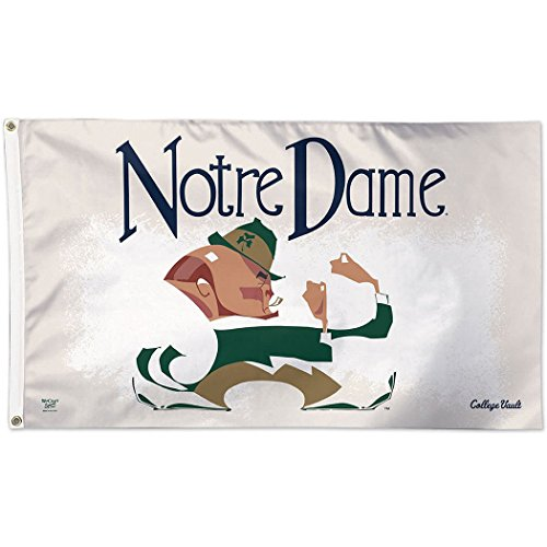 WinCraft Notre Dame Fighting Irish Official NCAA 3' x 5' Vault Deluxe Banner Flag by 086419 by WinCraft