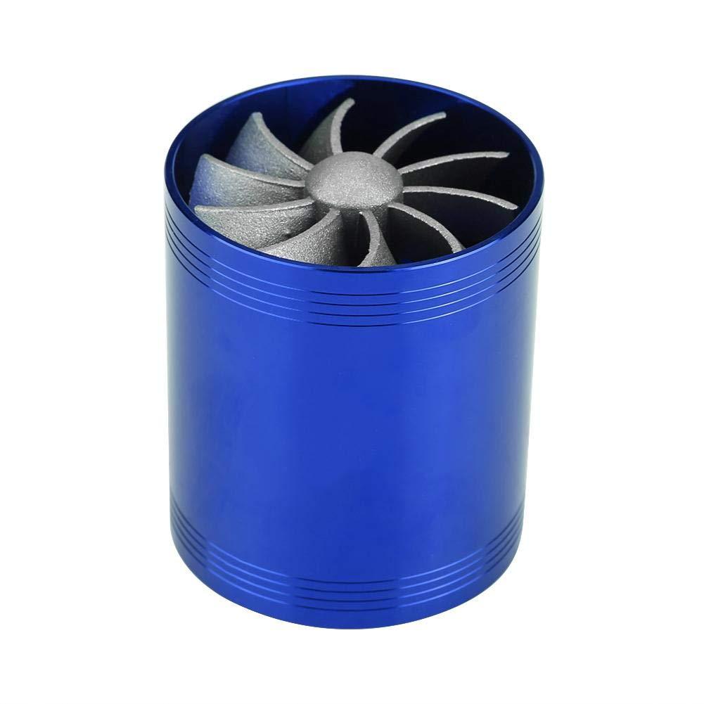 Aluminium Auto Super Charger Gas Kraftstoffsparer Turbo Blue Auto Lufteinlass Turbonator Dual Fan Turbine