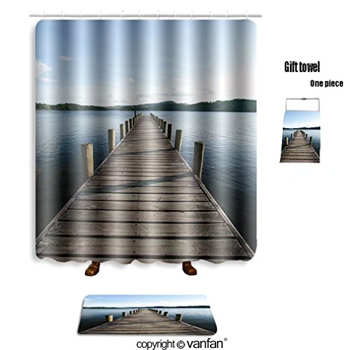 Vanfan Bath Sets With Polyester Rugs And Shower Curtain Lake District England 304441799 Curtains