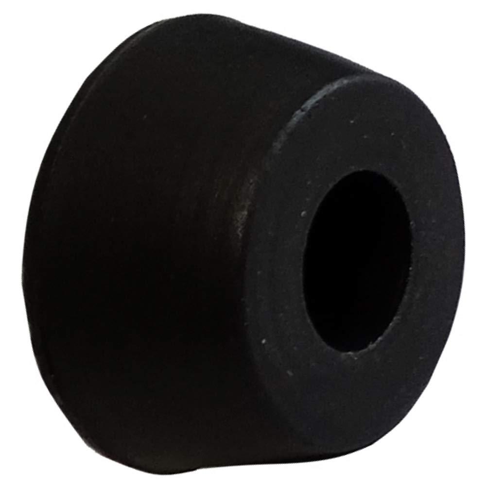 AERZETIX Negro C42282 Para atornillar 20x Patas pies redondos de caucho /Ø16mm H:7.8mm para muebles