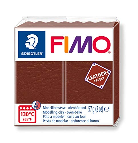 - STAEDTLER Fimo Leather - Effect Oven-Hardening Modelling Clay Colour Nut 8010-779