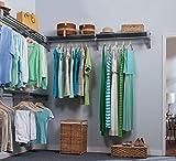 EZ Shelf - 18 ft. Closet Organizer Kit. Up to 18.4 ft. Hanging & Shelf Space - Silver