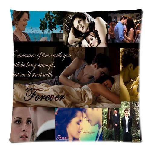 - Custom TWILIGHT SAGA Theme Zippered Personalized Pillowcase Cover Pillow Cases Standard Size 18x18 (Twin sides)