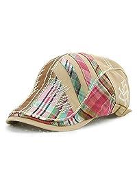Jamont Women's Trendy Fashion Summer Adjustable Newsboy Visor Ivy Cap Hat