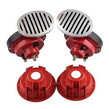 1 Pair Electric Air Horns Dual 12V Super Loud 135dB Air Horn Train for Car  Truck Boat RV: Amazon.in: Car & Motorbike