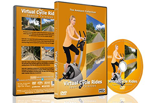 Virtual Cycle Rides - Spanish Pyrenees - For Indoor Cycling, Treadmill and Running Workouts